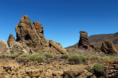 Hiking in the Teide National Park in Tenerife Canary Islands, Spain, Europe Stock Photography