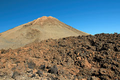 Hiking in the Teide National Park in Tenerife Canary Islands, Spain, Europe. Hiking in the beautiful and amazing Teide National Park in Tenerife which belongs to royalty free stock photo