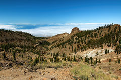 Hiking in the Teide National Park in Tenerife Canary Islands, Spain, Europe. Hiking in the beautiful and amazing Teide National Park in Tenerife which belongs to stock images