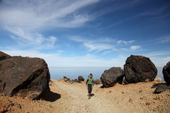 Hiking on Teide Tenerife Royalty Free Stock Photos