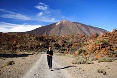 Hiking on Teide, Tenerife Stock Photos