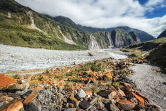 Hiking at the terrains to Franz & Fox glaciers in the South Isla Stock Image