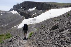 Hiking Teton Crest royalty free stock image