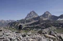 Hiking Teton Crest stock image