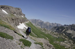 Hiking Teton Crest Stock Image
