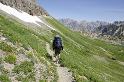 Hiking Teton Crest Stock Photos