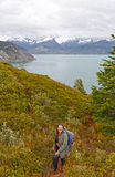 Hiking in Tierra del Fuego Stock Photo