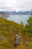 Hiking in Tierra del Fuego Stock Photo