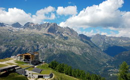 Hiking to Argentiere glacier, Alps, France Royalty Free Stock Images