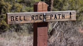 Hiking To Bell Rock In Sedona Royalty Free Stock Photography