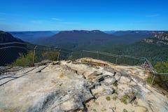 Hiking to elysian rock lookout, blue mountains, australia 11. Hiking to elysian rock lookout, prince henry cliff walk, blue mountains national park, australia stock photos