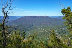 Hiking to elysian rock lookout, blue mountains, australia 12. Hiking to elysian rock lookout, prince henry cliff walk, blue mountains national park, australia royalty free stock image