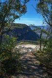 Hiking to gordon falls lookout, blue mountains, australia 3. Hiking to gordon falls lookout, blue mountains national park, australia royalty free stock photo