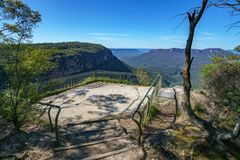 Hiking to gordon falls lookout, blue mountains, australia 4. Hiking to gordon falls lookout, blue mountains national park, australia stock photography
