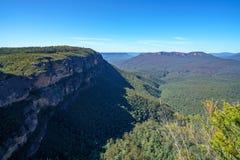 Hiking to gordon falls lookout, blue mountains, australia 12. Hiking to gordon falls lookout, blue mountains national park, australia royalty free stock photo
