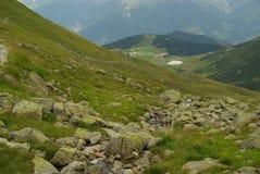 Hiking to mountain Furgler Stock Photos