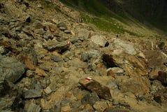 Hiking to mountain Furgler Royalty Free Stock Photos