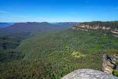 Hiking to olympian rock lookout, blue mountains, australia 6. Hiking to olympian rock lookout, prince henry cliff walk, blue mountains national park, australia stock images