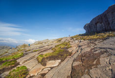 Hiking to Preikestolen, Norway Royalty Free Stock Photo