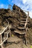 Hiking to the sky Madeira stock image