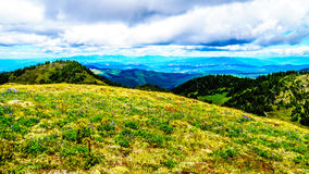 Hiking to top of Tod Mountain in the Shuswap Highlands. Of central British Columbia, Canada royalty free stock images