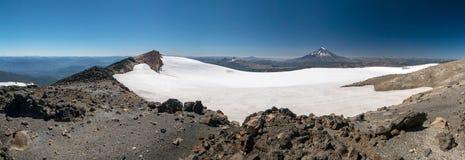 Hiking to the Vulkan Quetrupillan Stock Photography