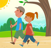 Hiking Together Royalty Free Stock Photos
