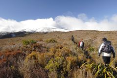 Hiking the Tongariro Crossing Stock Photography