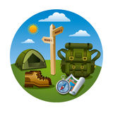 Hiking tourism icon Royalty Free Stock Photography