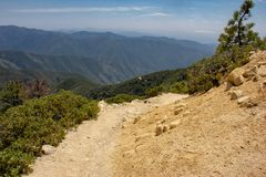 Hiking Towards Santiago Peak stock photography