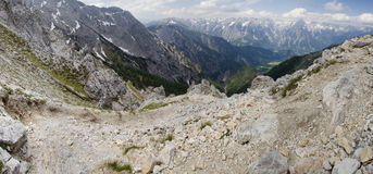 Hiking track in the Alps Stock Photography