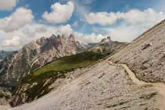 Hiking track in Sexten Dolomites Royalty Free Stock Image