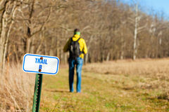 Hiking trail Royalty Free Stock Photos
