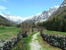 Hiking Trail. The picture shows a hiking trail in Italy Stock Photography