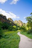 Hiking trail. West fork hiking trail in Oak Creek Canyon, Northern Arizona royalty free stock images