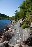 Hiking Trail. Trail around Jordan's Pond in Acadia National Park, Maine Stock Photo