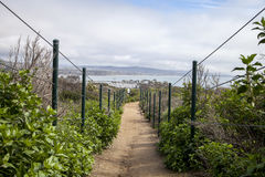 Hiking trail above Dana Point Harbor. In Southern California, USA on a sunny day stock photos