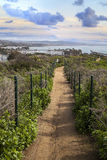 Hiking trail above Dana Point Harbor. In Southern California, USA on a sunny day stock photography
