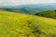 Hiking trail across a mountain top Royalty Free Stock Image