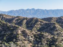 Hiking trail around San Gabriel Mountain. At Los Angeles Stock Photos