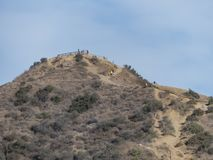 Hiking trail around San Gabriel Mountain. At Los Angeles stock photos