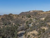 Hiking trail around San Gabriel Mountain. At Los Angeles royalty free stock image