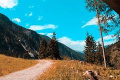 Hiking trail in Austria. Hohe Tauern stock photos