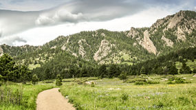 Hiking Trail in Boulder Colorado. Chautauqua Park trail in Boulder Colorado Royalty Free Stock Photo