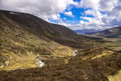 Hiking trail in Cairngorms National Park. Aberdeenshire, Scotland, UK stock photography