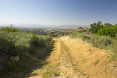 Hiking Trail in California Hills Royalty Free Stock Image