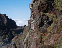 Hiking trail close to pico do arieiro Royalty Free Stock Photos