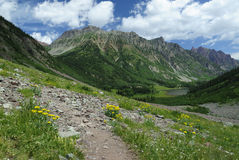 Hiking trail in Colorado Rocky Mountains Royalty Free Stock Photos