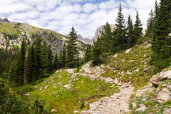 Hiking Trail Through The Colorado Rocky Mountains Stock Photography