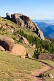Hiking Trail in the Colorado Rocky Mountains Stock Photos